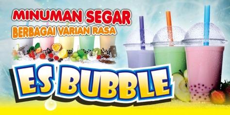 Spanduk Es Bubble