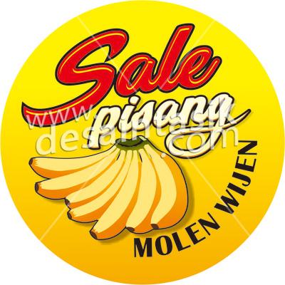 sticerk label makanan sale pisang